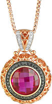 JCPenney FINE JEWELRY LIMITED QUANTITIES Lab-Created Ruby & Diamond-Accent Pendant