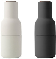 Menu Carbon & Ash Bottle Grinder Set, Walnut - White/Grey/Black