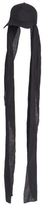 Flapper Titania Linen Cap - Black