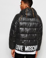 Love Moschino Padded Jacket Piping Detail