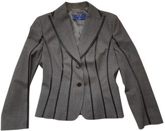 Basile Grey Leather Jacket for Women