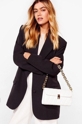 Nasty Gal Womens WANT Change My Mind Quilted Shoulder Bag - White