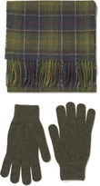 Barbour Scarf And Glove Gift Box Classic/olive