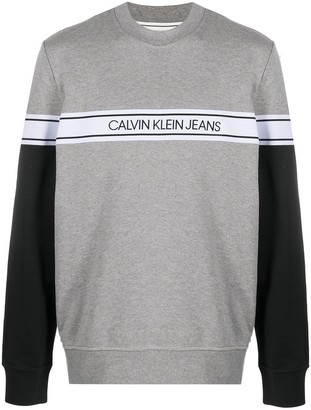 Calvin Klein Jeans Logo Stripe Sweatshirt