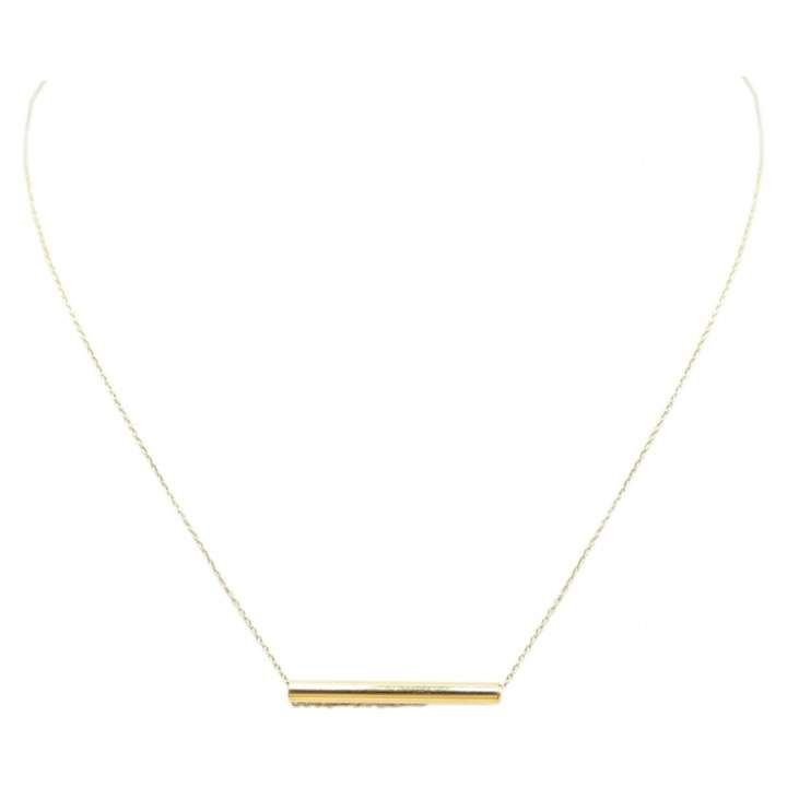 ginette_ny Straw yellow gold necklace