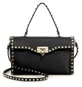 Valentino Rockstud Large Leather Top-Handle Bag