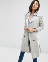 MANGO Double Breasted Belted Trench Coat