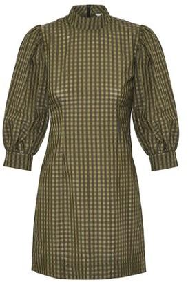 Ganni Puffed sleeve dress