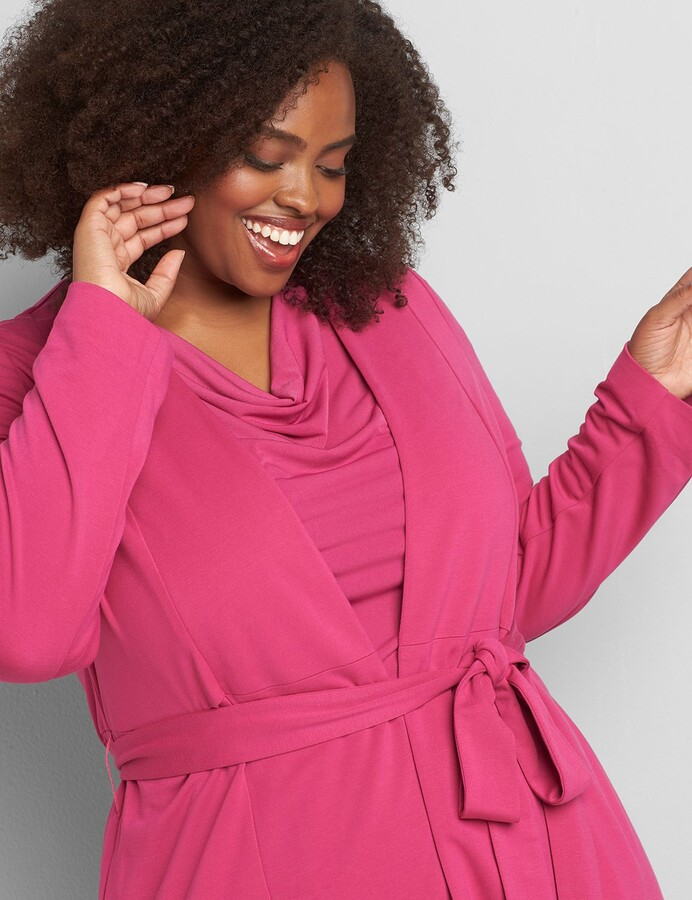 Lane Bryant Knit Kit Belted Overpiece