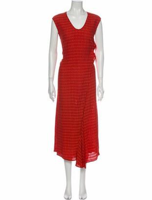 Zero Maria Cornejo V-Neck Long Dress Orange