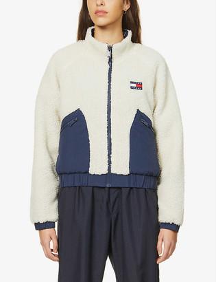 Tommy Jeans Reversible high-neck fleece jacket