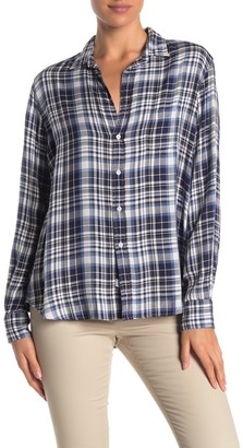 Frank And Eileen Eileen Plaid Printed Button Front Shirt