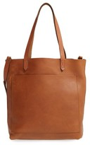 Madewell Medium Leather Transport Tote - Brown