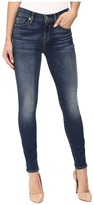 7 For All Mankind The Ankle Skinny w/ Distress in Vintage Kensington