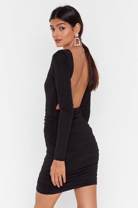 Nasty Gal Womens When the Beat Drops Ruched Mini Dress - Black