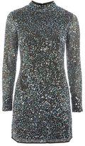 Topshop Galaxy sequin mini dress
