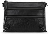 Elliott Lucca Black Bali '89 Leather Three-Way Convertible Clutch