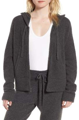 James Perse Brushed Cashmere Zip Hoodie