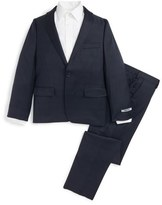 DKNY Plaid Wool Suit (Big Boys)