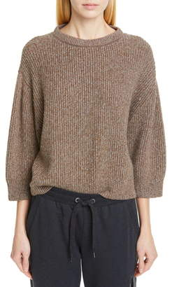 Brunello Cucinelli Metallic Wool, Cashmere & Silk Blend Sweater