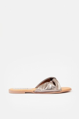 Coast Flat Twist Metallic Sandal