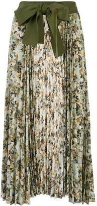 Silvia Tcherassi Blanche floral pleated skirt