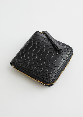 And other stories Embossed Leather Zip Wallet