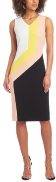 Christian Siriano New York Colorblocked Sheath Dress