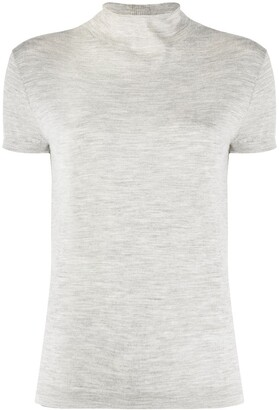 N.Peal Mock Neck Knitted Top