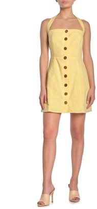 Lumiere Button Front Mini Dress