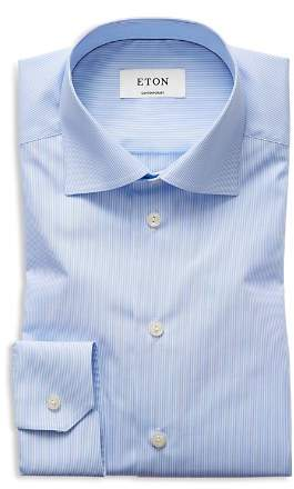 Eton of Sweden Basic Regular Fit Skinny Bengal Stripe Dress Shirt