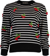 Michael Kors Cherry Embellished Pullover Sweater