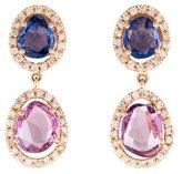 Amrapali 18K Sapphire & Diamond Drop Earrings