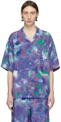 Marni Blue Tie-Dye Jacquard Shirt