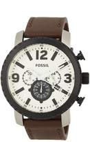Fossil Men's Leather Strap Watch