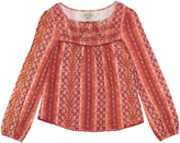 Lucky Brand Molten Lava Big Print Knit Pullover Sweater - Girls