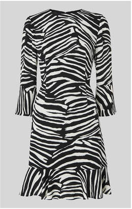 Whistles Zebra Print Flippy Dress