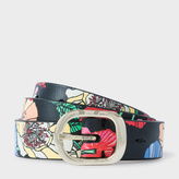 Paul Smith Women's 'Wild Garden' Print Calf Leather Belt