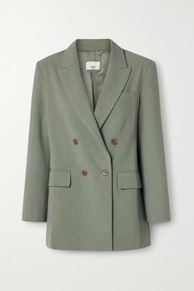 Frankie Shop Elvira Crepe Blazer - Army green