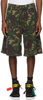 Off-White Multicolor Oversized Camouflage Diagonal Shorts