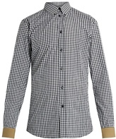 Givenchy Contrast-cuff checked cotton shirt