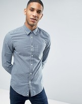 Benetton Checked Shirt With Pocket In Slim Fit