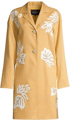 Lafayette 148 New York Myer Embroidered Coat