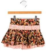 Kenzo Girls' Floral Print Skirt