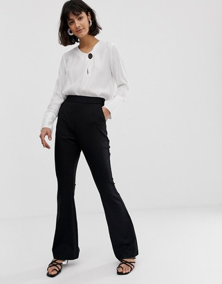 UNIQUE21 tailored high rise trousers-Black
