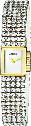 Accurist Women's Quartz Watch with Silver Dial Analogue Display and Silver Mixed Bracelet LB1503.01