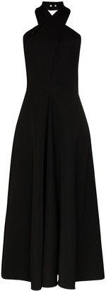 Jil Sander Melinda wool halterneck dress