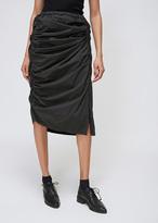 Yohji Yamamoto Black Gathered Tight Skirt