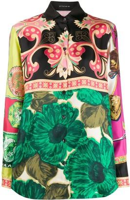 Etro floral-print silk shirt