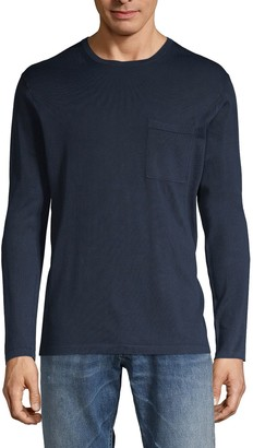 Vince Long-Sleeve Cotton Pocket Tee